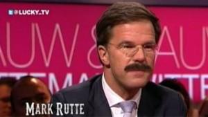 Mark Rutte met snor