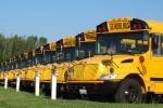 Gele schoolbussen