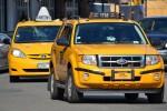 Gele taxi's, aardig concept