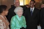 Britse queen met Rwandese president