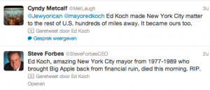 Geretweet door Ed Koch