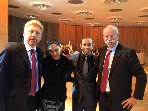 'Nicole,Lewis,Dieter and BB' (Foto: @TheBorisBecker)