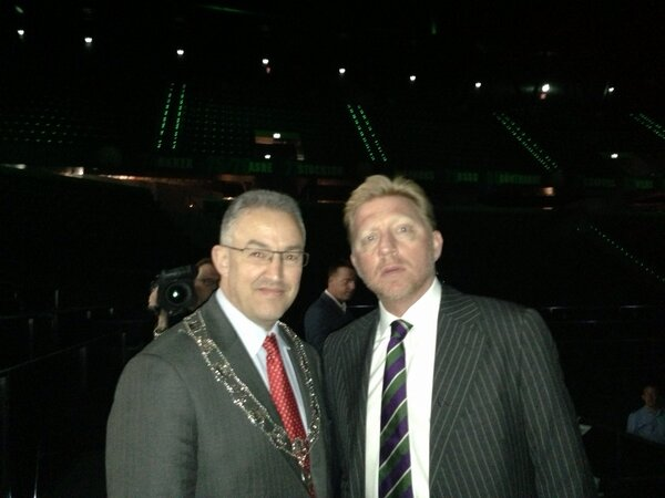 Aboutaleb (links) en Becker (Foto: @TheBorisBecker)