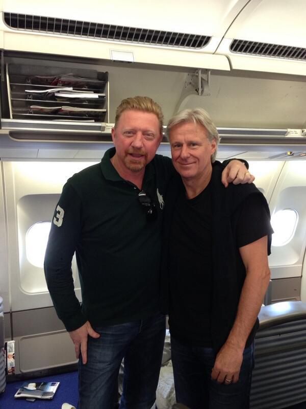 Boris Becker (links) en Björn Borg