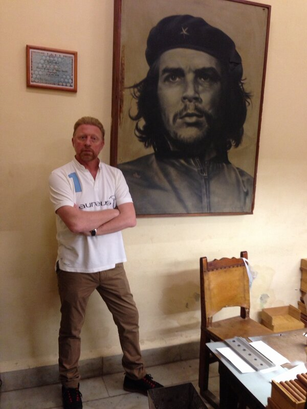 Boris Becker (links) en Che Guevara (Foto: @TheBorisBecker)