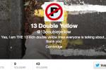 De dubbele gele lijn van Cambridge op Twitter