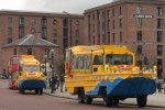 Yellow Duckmarine in Albert Dock, Liverpool