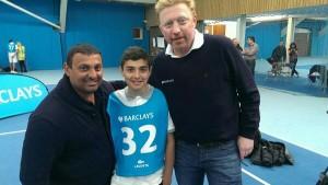 Vlnr: Prince Naseem, diens zoon, Boris (foto: @TheBorisBecker)
