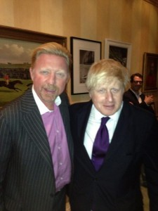 Boris (links) met Boris (foto: @TheBorisBecker)