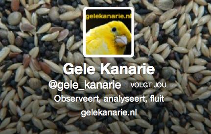 Officiële Twitter-pagina van de Gele Kanarie (foto: Gele Kanarie)