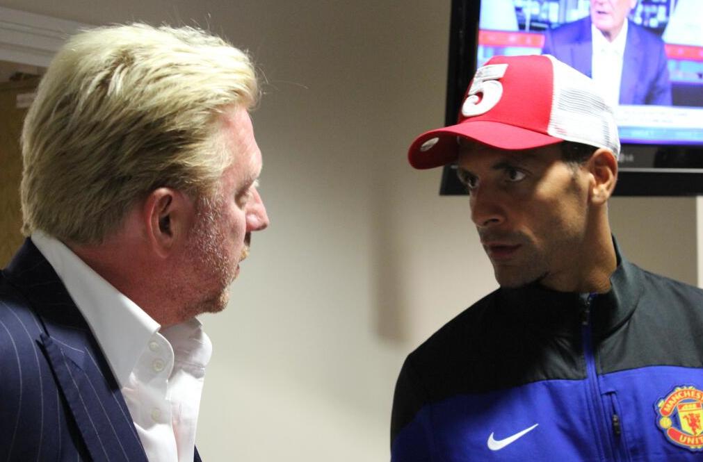Vlnr: Boris, Rio Ferdinand