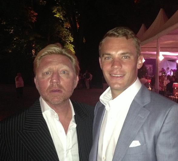 Vlnr: Boris, Manuel Neuer (foto: @TheBorisBecker)