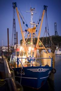Vissersschip in Zeebrugge