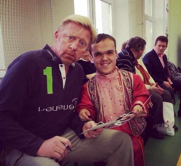 Vlnr: Boris, kleine Rus (foto: @TheBorisBecker