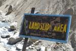 Landslide area in Nepal