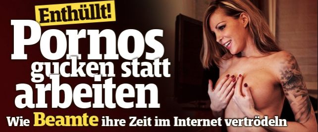 Opwinding in het doorgaans zo neutrale Zwitserland: ambtenaren werken niet, maar kijken porno (beeld via Blick)