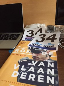 Startnummer 34 in de Ronde van Vlaanderen: Alexis Gougeard (Foto: @goueardA)