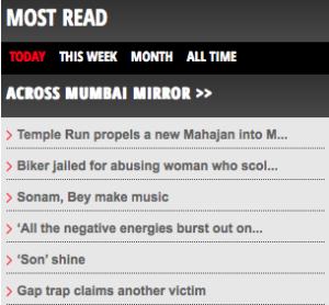 Hot in Mumbai